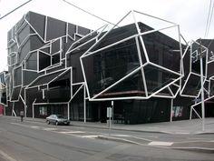Melbourne Facade Architecture, Contemporary Architecture, Amazing Architecture, Facade Lighting, Visualisation, Futuristic Art, Unusual Homes, Facade Design, Exterior