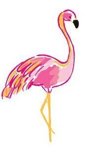 Happy Flamingo.   From http://sailboatsandseersucker.tumblr.com