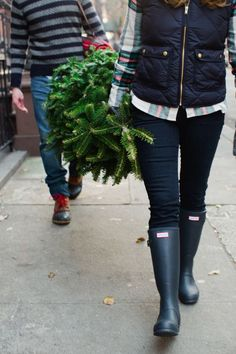 West Village NYC Christmas engagement by Kate Headley // engagement/christmas card inspiration