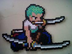 Roronoa+Zoro.+One+Piece+Hama+Beads+by+Bamuga.deviantart.com+on+@DeviantArt