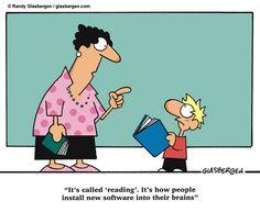 Reading by Randy Glasbergen #Cartoon #Humor #Reading