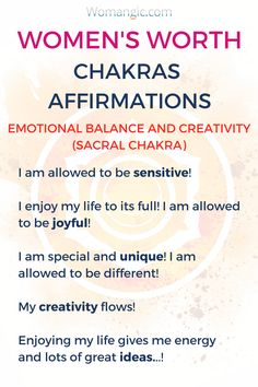 Chakras Affirmations can be really powerful for a woman's worth! Chakra, Chakra Balancing, Root, Sacral, Solar Plexus, Heart, Throat, Third Eye, Crown, Chakra meaning, Chakra affirmation, Chakra Mantra, Chakra Energy, Energy, Chakra articles, Chakra Healing, Chakra Cleanse. Relationship, Relationship Advice, Relationship Problems, Relationship Tips, Couple, Couple Goals, Couple In Love, Intimate, Couple Ideas, Couple Problems, Marriage.
