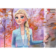 """루로 Ruro on Instagram: """"오늘은 오로지 수채화로만 엘사를 그렸습니다🙂- Watercolors🖌- - - 덕질은 계속됩니다..ㅋㅋ- - - #겨울왕국 #겨울왕국2 #엘사 #엘사팬아트 #엘사그림 #엘사그리기 #겨울왕국팬아트 #팬아트 #모작 #일러스트 #수채화 #frozen…"""" Princess Zelda, Disney Princess, Elsa, Disney Animated Movies, Disney Animation, Fictional Characters, Disney Characters, Disney Frozen, Fan Art"""