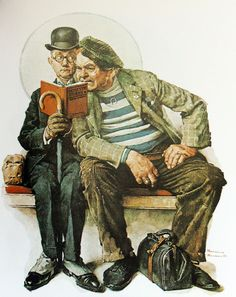 The Interloper. Norman Rockwell (American, 1894-1978). Illustration was used on the cover of The Saturday Evening Post on March 12, 1927...