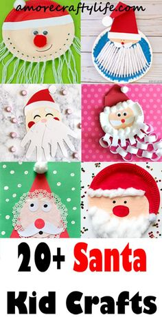 Santa Kid Craft - Christmas Crafts for Kids - DIY Activities - Amorecraf . Santa Kid Craft – Christmas Crafts for Kids – DIY Activities – Amorecraf …, Christmas Arts And Crafts, Santa Crafts, Fun Arts And Crafts, Preschool Christmas, Noel Christmas, Arts And Crafts Movement, Holiday Crafts, Fun Crafts, Christmas Decorations