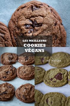 Les meilleurs cookies végans Matcha, Cookies Et Biscuits, Chocolate, Macarons, Sweet Tooth, Cheesecake, Sweets, Desserts, Grand Jour