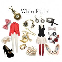 Alice in Wonderland - White Rabbit Disney Themed Outfits, Disney Bound Outfits, Casual Cosplay, Cosplay Outfits, Disney Costumes, Diy Halloween Costumes, White Rabbit Costumes, Alice In Wonderland Costume, Boogie Wonderland