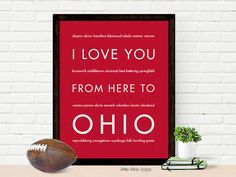 I Love You From Here To OHIO art print