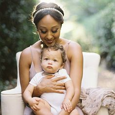 Tamera Mowry and son Aden