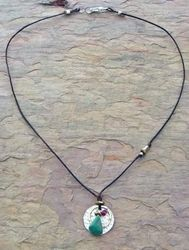 Circle Center & Turquoise Necklace