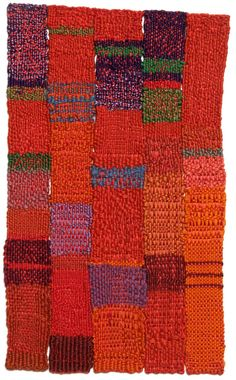 This is a stunning split-warp tapestry. Very similiar to my mother's work during the 1970s. Bravo, Sheila!   Sheila Hicks