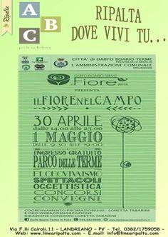 SABATO 30 APRILE E DOMENICA 1 MAGGIO 2016 RIPALTA DOVE VIVI TU...