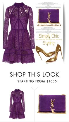Original Pin: My Wardrobe Adventures! by elizabethhorrell on Polyvore featuring Elie Saab, Yves Saint Laurent and Christian Louboutin
