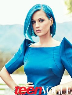 If I was younger/braver/didn't have a professional image to maintain, I would totally dye my hair this color for a little while.