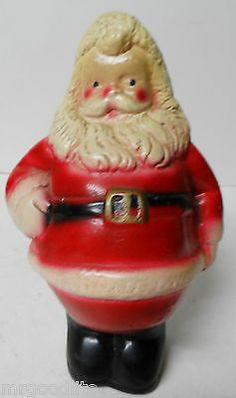 Nice Old Vintage Chalkware Christmas Standing Santa Claus Bank