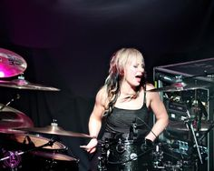 Jen Ledger from Skillet leading the way for chick drummers! And she loves Jesus! I look up to her a lot!