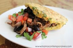 Arepas Fit de Zanahoria, Espinaca, Cebollín y Cilantro Wine Recipes, Cooking Recipes, Cilantro, Colombian Food, Comida Latina, Sin Gluten, International Recipes, Pulled Pork, Healthy Lifestyle