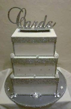 Rhinestone Cards sign by PittsburghsBBB on Etsy, $75.00