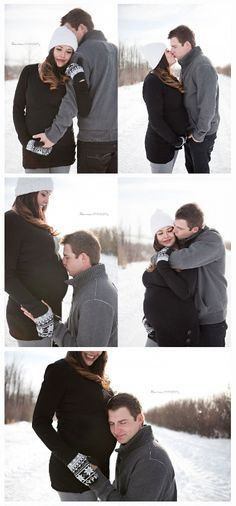 Beautiful Couples Winter Maternity Shoot - Kura Photography