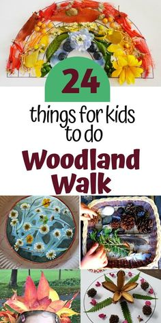 24 things for kids to do on a woodland walk Outdoor Fun For Kids, Outdoor Activities For Kids, Outdoor Learning, Science For Kids, Crafts For Kids, Forest School Activities, Sensory Activities Toddlers, Nature Activities, Learning Activities