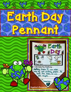 Celebrate Earth Day with these unique Earth Day Pennants  •Choose between the color or black and white version. (1 per page – 8 ½ x 11 sheet)  •Hang them in the window, hall, or classroom for others to enjoy!