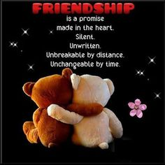Friendship Is A Promise Made In The Heart life quotes quotes quote friends best…
