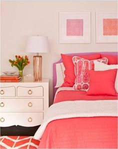 phoebe howard pink and coral bedroom bedrooms