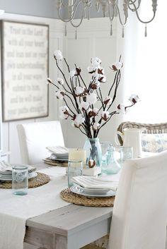 faux cotton branches