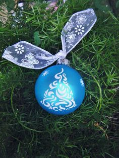 Handpainted Christmas Tree Ornament