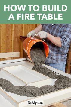 Concrete Crafts, Concrete Projects, Backyard Projects, Diy Wood Projects, Outdoor Projects, Home Projects, To Build A Fire, Fire Table, Backyard Retreat