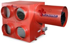 SuperFan ~ whole house fan system ~ super quiet & effective. For an older (ancient/historic) home maybe OR in the forest cabin on property :o) Metal Shop Building, Building A House, Wood Gas Stove, Hvac Design, Energy Efficient Homes, Energy Efficiency, Whole House Fan, Attic Fan, Shop Buildings