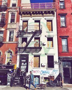 ✌️ #eastvillage #peace #facade
