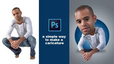 Illustrator Dicas Photoshop Tutorial How To make Caricature Effect Photoshop Tutorial, Actions Photoshop, Effects Photoshop, Photoshop Brushes, Photoshop Design, Adobe Photoshop Elements, Creative Photoshop, Photoshop For Photographers, Photoshop Photography