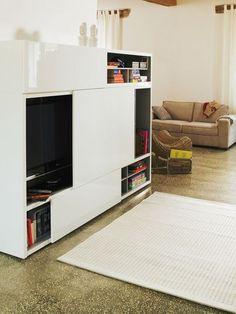 1000 id es sur meubles pour t l vision sur pinterest for Meuble tv coulissant