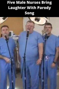 The medical field is usually very serious in nature. That is unless you're talking about the Minnesota parody group The Laryngospasms, of course!  During work hours, all members of the musical ensemble are Certified Registered Nurse Anesthetists. But in their free time, they have people cracking up over their hilarious songs – which pertain to their area of expertise. Parody Songs, Male Nurse, Kitchen Bar Design, Lace Dream Catchers, Night Light Projector, Laughter Yoga, Laughter Therapy, Most Beautiful Birds, Eye Makeup Steps
