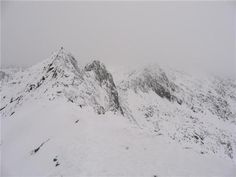 Crib Goch in winter conditions