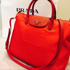 Prada tessuto saffiano nylon bag SALE!!!!!Authentic prada nylon bag slightly use in very good condition. Also available thru Ⓜ️ercari less price Prada Bags