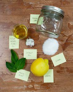 Love this!  TIY- Lemon Mint Sugar Scrub http://tulle4us.com/blog/category/diy-2/