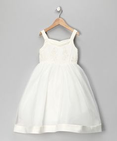 Take a look at this Ivory Princess Dress - Girls by Tip Top Kids on #zulily today!