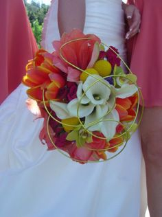 pink and green bridal bouquet - Google Search