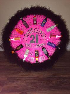 Shot Clock I made for my best friend& Birthday! Best Friend Birthday Present, 21st Birthday Presents, Birthday Present For Boyfriend, 21st Birthday Decorations, 21st Gifts, Diy Gifts, 18th Birthday Present Ideas, Birthday Shots, Birthday Diy