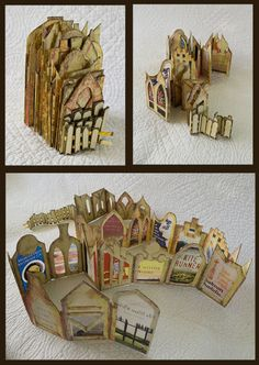 Randscapes: My Unforgettable Book Library SOLD! artist's book by Randy Kee - Photography Books - Ideas of Photography Books - Randscapes: My Unforgettable Book Library SOLD! artist's book by Randy Keenan. Paper Book, Paper Art, Altered Books, Altered Art, Altered Tins, Art Altéré, Kunstjournal Inspiration, Accordion Book, Concertina Book