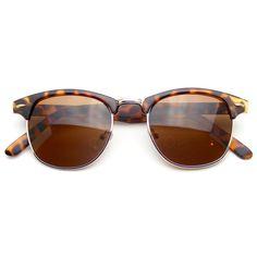 Classic Half Frame Vintage Clubmaster Wayfarer Sunglasses