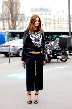 CC keeping it local yo. wearing Josh Goot to #PFW. girlfriend is slaying it left right and centre. #ChristineCentenera