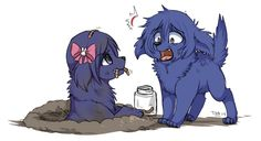 Dog!Touka and Dog!Ayato ||| Tokyo Ghoul Dog AU Fan Art by poochiena on Tumblr