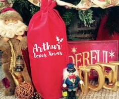 Love Xmas Bottle Bag,Christmas Gift Bag,Christmas Gift Wrap,Christmas Gift Box,Personalised Gift Bag,Personalised Christmas,Xmas Gift Ideas Christmas Gift Bags, Unique Christmas Gifts, Christmas Gift Wrapping, Xmas Gifts, Personalized Gift Bags, Personalized Christmas Gifts, Personalised Box, Bottle Bag, Handmade Items