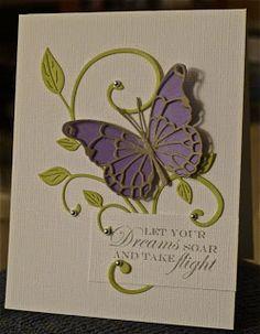 allycat cards: May 2012 / Memory Box Butterfly / Cheery Lynn flourish