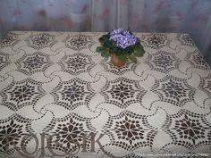 Meravigliosa tovaglia all'uncinetto Crochet Bedspread, Crochet Tablecloth, Rubrics, Quilts, Blanket, Home Decor, Bedspreads, Tablecloths, Runners