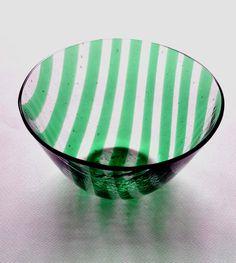 Ciotola vetro verde Vaso in vetro trasparente e verde