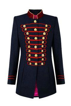 Vizcondesa Beatle Azul y Rojo military inspiration jacket